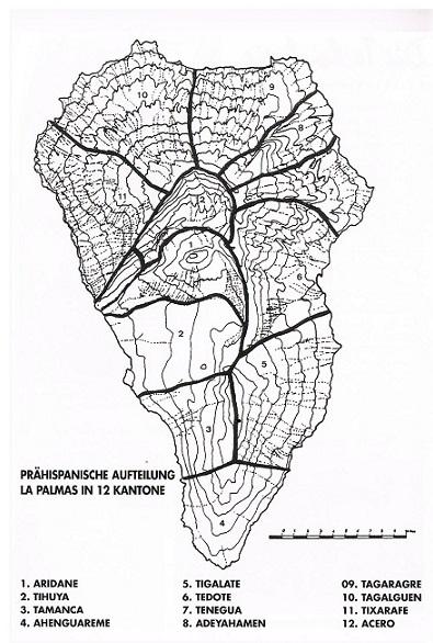 Die Stammesgebiete der Benahoariten / Awara