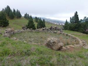 Tagoror auf dem Lomo de los Conejos, Montaña de Tamarahoya, El Paso, La Palma