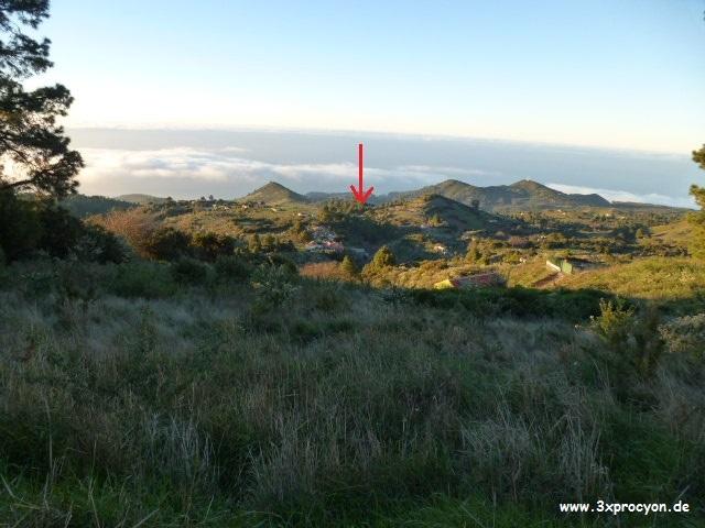 Foto Nº 13 Lugar por encima de Hoya Grande, después de las primeras curvas de la carretera que lleva al Roque de Los Muchachos.