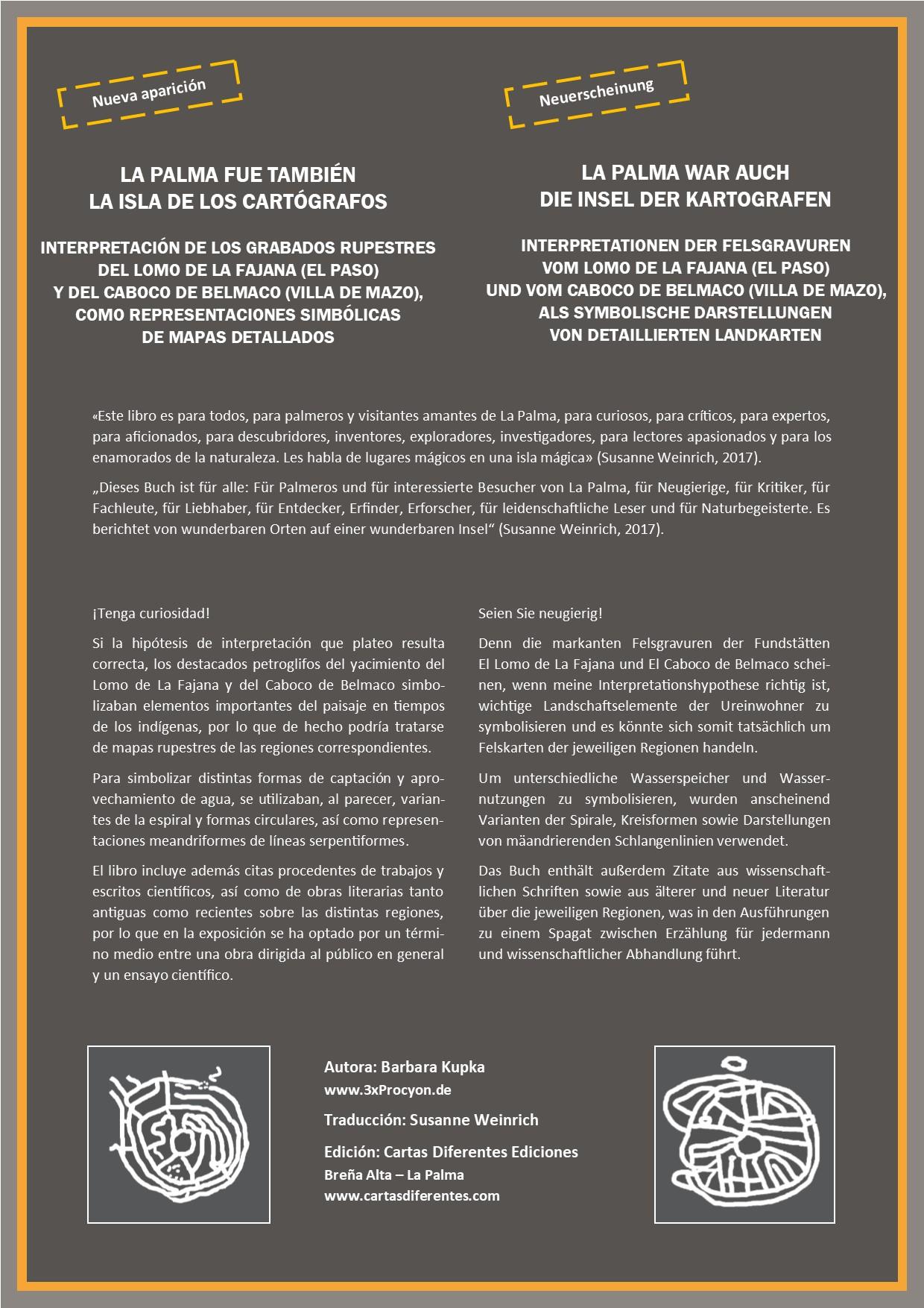 LA PALMA FUE TAMBIÉN LA ISLA DE LOS CARTÓGRAFOS. Autora: Bárbara Kupka. Traductora: Susanne Weinrich. Edición: Cartas Diferentes Ediciones.