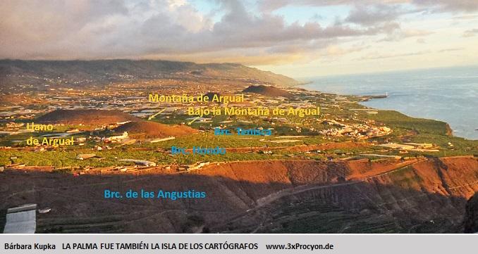Desde la cima de la Montaña de Argual se ver muchos lugares que tuvieron una importancia considerable para los indígenas.