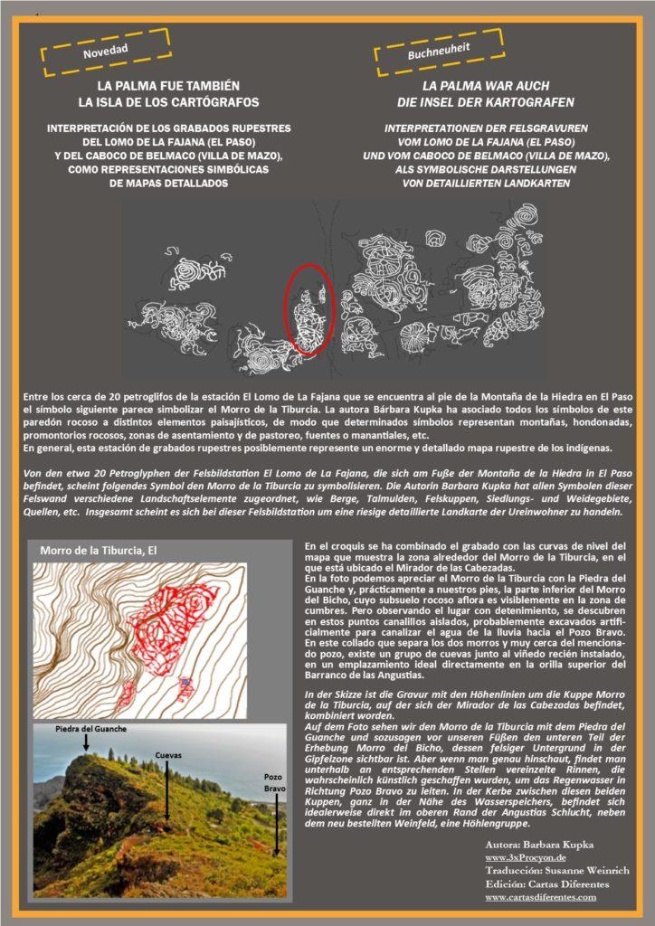 Este petroglifo muestra características asociables a las del Morro de la Tiburcia, Tijarafe / La Palma.