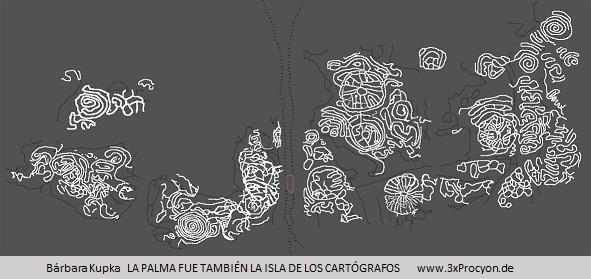 Die etwa 20 Felsgravuren der Felsbildstation EL LOMO DE LA FAJANA scheinen Landschaftselemente  aus der Zeit der Ureinwohner zu symbolisieren.