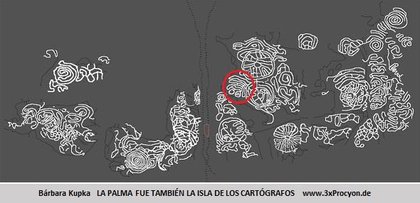 Este petroglifo muestra características asociables a las del Hoyo-Peña de Diablo, El Paso, La Palma.